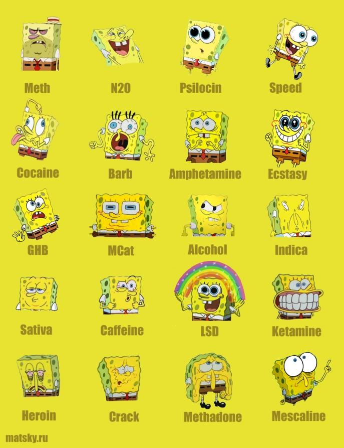 Spongebob drugs - S�nger bob madde ba��ml�s� olursa
